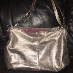 Silver Coach shoulder bag